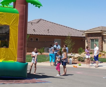Invite neighbors to get together, and ask for their ideas ahead. One neighbor offered to set up a bouncy house! Christian Life Coach